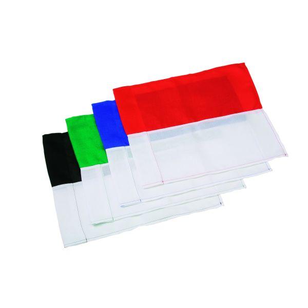 Hoekvlaggen 2-kleurig (30 mm)