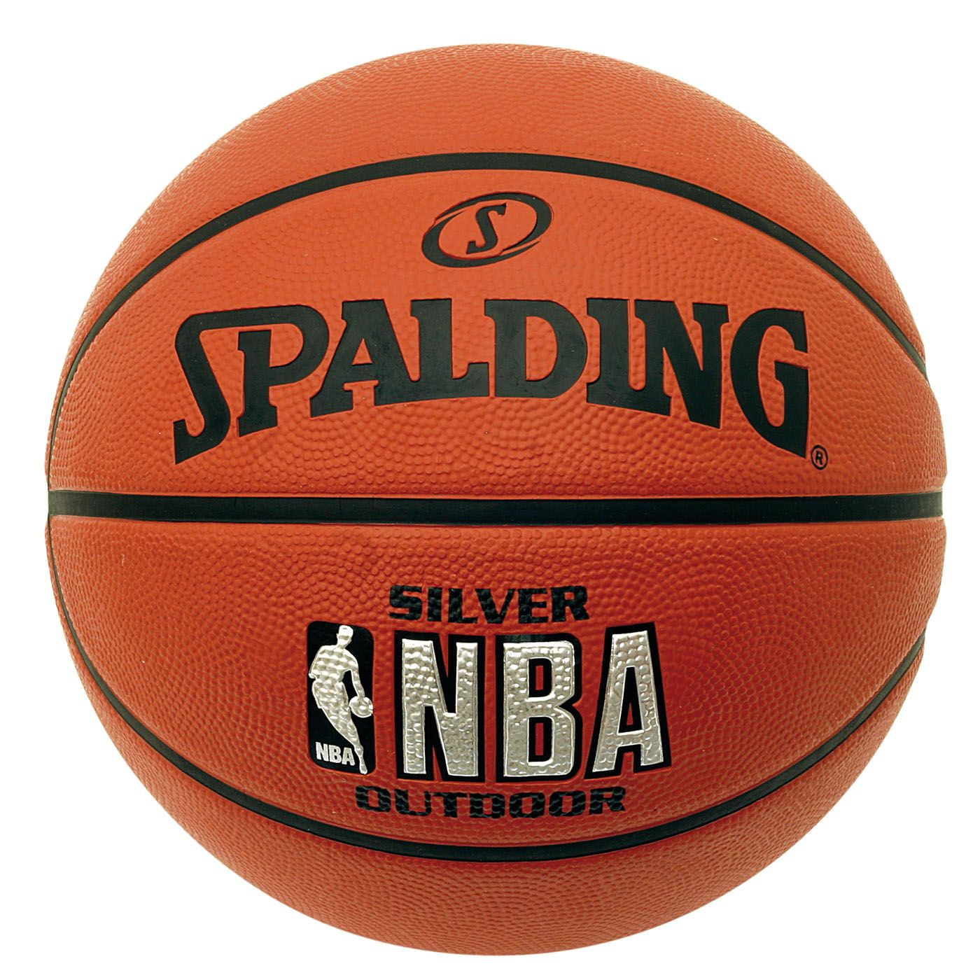 Spalding NBA Silver Rubber Basketbal