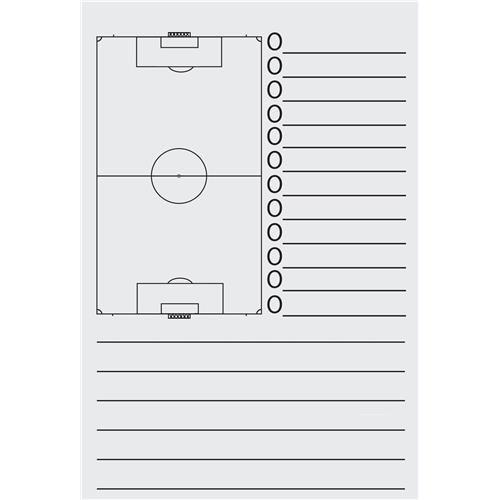 Schrijfblok voor Coachmap