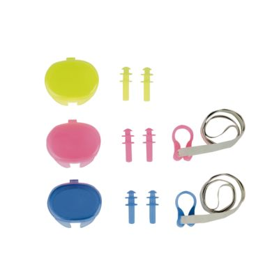 Rucanor Ear Plugs and Nose Set Transparant Roze