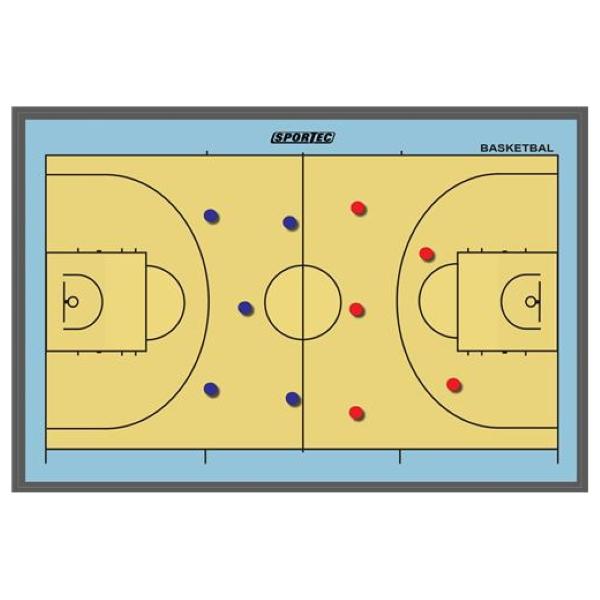 Magnetisch Coachbord Basketbal 90 x 60 cm