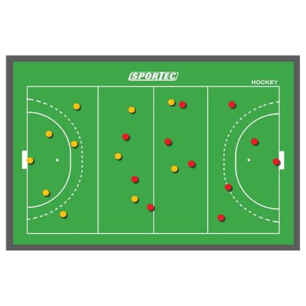 Magnetisch Coachbord Hockey 90 x 60 cm