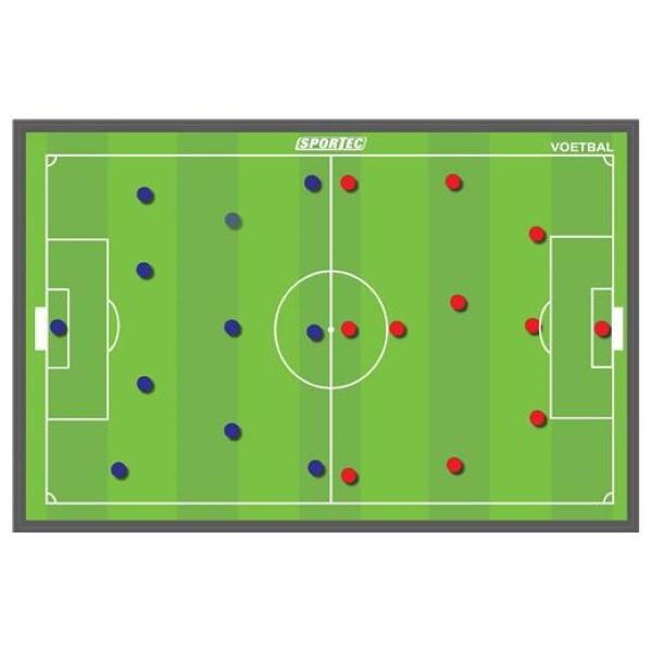 Magnetisch Coachbord Voetbal 90 x 60 cm