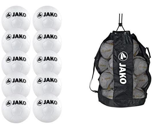 Balpakket JAKO Classic Hybrid Voetbal 10 Stuks met JAKO Ballenzak