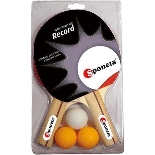 Tafeltennis Set Sponeta Record Met 3 Ballen