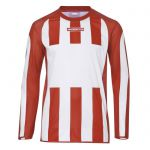 Masita Sportshirt Lange Mouw Inter Wit-Rood 1616-1050
