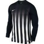 Nike Striped Division II Shirt Lange Mouw Zwart-Wit 725971 010