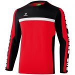 Erima 5-Cubes Trainings Sweatshirt Rood-Zwart-Wit 107527