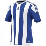 Adidas Striped 15 Shirt Korte Mouw Bold Blauw-Wit S16138