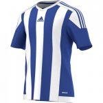 Adidas Striped 15 Shirt Korte Mouw Bold Blauw-Wit S16138
