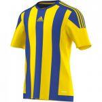 Adidas Striped 15 Shirt Korte Mouw Geel-Bold Blauw S16142