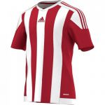 Adidas Striped 15 Shirt Korte Mouw Power Rood-Wit S16137