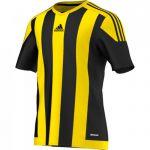 Adidas Striped 15 Shirt Korte Mouw Zwart-Geel S16143