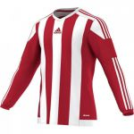 Adidas Striped 15 Shirt Lange Mouw Power Rood-Wit S17189