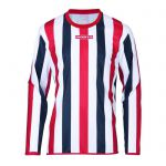 Masita Sportshirt Lange Mouw Barca Rood-Wit-Marine 1617-501022