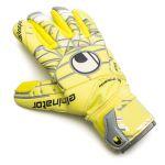 Uhlsport Eliminator Absolutgrip Fingersurround Keepershandschoenen LITE Fluo Geel-Griffin Grijs-Wit 1011008 Bovenaanzicht