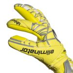 Uhlsport Eliminator Absolutgrip Fingersurround Keepershandschoenen LITE Fluo Geel-Griffin Grijs-Wit 1011008 Zijaanzicht