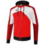 Erima Premium One 2.0 Trainingsjack met Capuchon Rood-Wit-Zwart 1071802