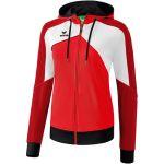 Erima Premium One 2.0 Trainingsjack met Capuchon Dames Rood-Wit-Zwart 1071826