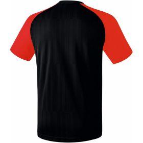 Erima Tanaro 2.0 Shirt Korte Mouw Zwart-Rood Achterzijde