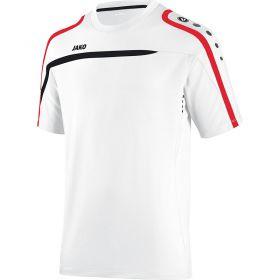 Jako Performance T-Shirt Wit-Zwart-Rood 6197