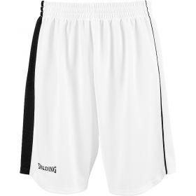 Spalding 4Her II Sportshorts Wit-Zwart-Zilver Grijs