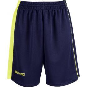 Spalding 4Her II Shorts Navy-Fluo Geel