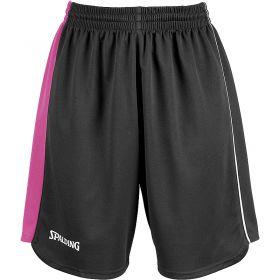 Spalding 4Her II Sportshorts Zwart-Roze-Wit