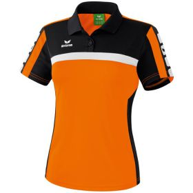 Erima 5-Cubes Polo Dames Oranje-Zwart-Wit 111549