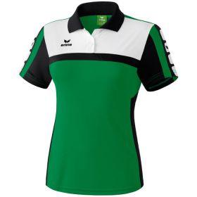Erima 5-Cubes Polo Dames Smaragd-Zwart-Wit 111552