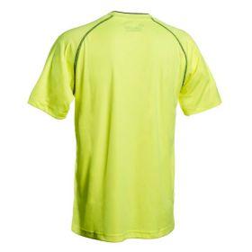 Cawila Scheidsrechter Shirt Referee 15 Korte Mouw Geel Achterzijde