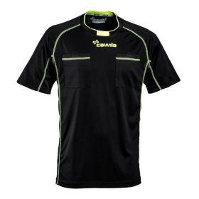 Cawila Scheidsrechter Shirt Referee 15 Korte Mouw Zwart