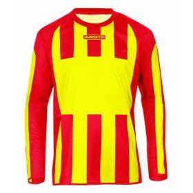 Masita Sportshirt Lange Mouw Inter Geel-Rood 1616-3050