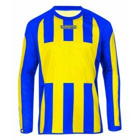 Masita Sportshirt Lange Mouw Inter Geel-Royal Blauw 1616-3021