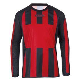 Masita Sportshirt Lange Mouw Inter Rood-Zwart 1616-5015