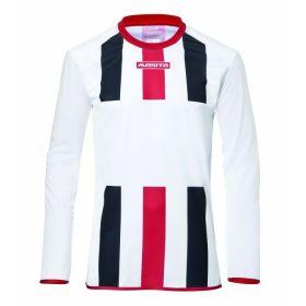 Masita Sportshirt Lange Mouw Inter Wit-Marine-Rood 1616-102250