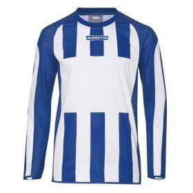 Masita Sportshirt Lange Mouw Inter Wit-Royal Blauw 1616-1021