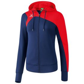 Erima Club 1900 2.0 Trainingsjack met Capuchon Dames New Navy-Rood 1070717