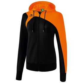 Erima Club 1900 2.0 Trainingsjack met Capuchon Dames Zwart-Oranje 1070718