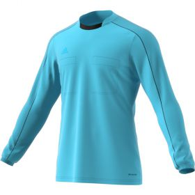 Adidas Referee 16 Scheidsrechter Shirt Lange Mouw Glow Blauw AJ5919