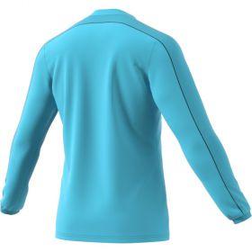 Adidas Referee 16 Scheidsrechter Shirt Lange Mouw Glow Blauw Achterzijde AJ5919