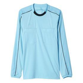 Adidas Referee 16 Scheidsrechter Shirt Lange Mouw Glow Blauw Voorzijde AJ5919