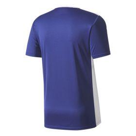 Adidas Entrada 18 Shirt Donker Blauw-Wit CF1036 Achterkant