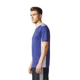 Adidas Entrada 18 Shirt Donker Blauw-Wit CF1036 Zijkant