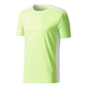 Adidas Entrada 18 Shirt Solar Groen-Wit CE9758