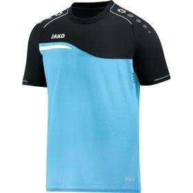 Jako Competition 2.0 T-Shirt Aqua-Zwart 6118 45