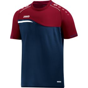 Jako Competition 2.0 T-Shirt Marine-Donker Rood 6118 09