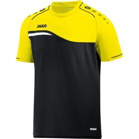 Jako Competition 2.0 T-Shirt Zwart-Neon Geel 6118 03