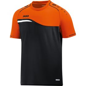 Jako Competition 2.0 T-Shirt Zwart-Neon Oranje 6118 19