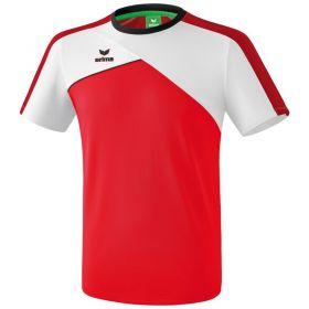 Erima Premium One 2.0 T-Shirt Kind Rood-Wit-Zwart K1081802